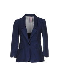 People Suits And Jackets Blazers Women Dark Blue