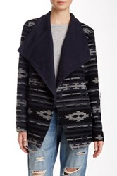 Fate Allover Print Foldover Jacket Gray