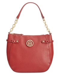 Tommy Hilfiger Sadie Pebble Leather Crossbody Red