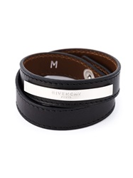 Givenchy Double Wrap Bracelet Black