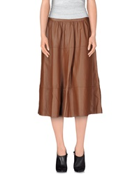 Semi Couture 3 4 Length Skirts Brown