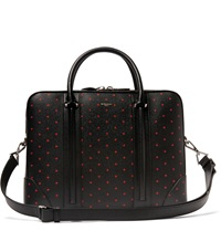 Givenchy Cross Print Pebble Grain Leather Briefcase Black