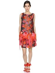 Gianluca Capannolo Floral Fringed Jacquard And Fil Coupe Top