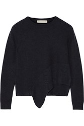 Stella Mccartney Asymmetric Cashmere And Silk Blend Sweater