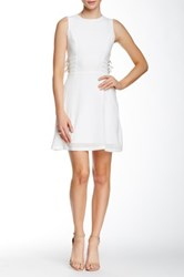 Ontwelfth Sleeveless Fit And Flare Side Buckle Dress Beige