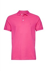 French Connection Cotton Magoo Pique Rubber Polo Shirt Hot Pink