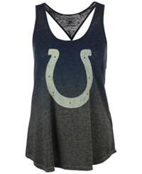 G3 Sports Women's Indianapolis Colts Twisted Tank Navy Gray
