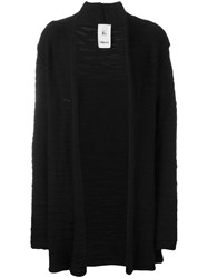 Lost And Found Rooms Sleeve Detail Open Cardigan Black