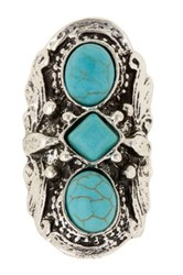 Stephan And Co Turquoise Stone Statement Ring Blue