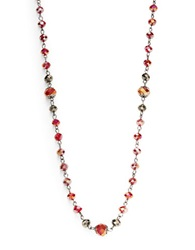 Robert Rose Burgundy Faceted Beaded Necklace Red