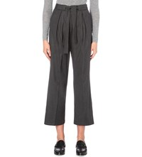Claudie Pierlot Paisible Wool Trousers Gris