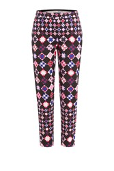 Emilio Pucci Printed Cotton Pants Red