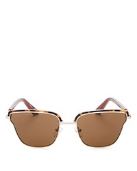 Elizabeth And James Empire Square Cat Eye Sunglasses 56Mm Tortoise Brown Solid
