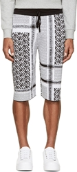 Mcq By Alexander Mcqueen Black And White Knit Razor Shorts