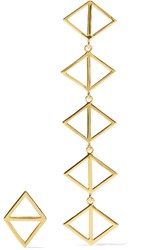 Arme De L'amour Triangle Gold Plated Earrings