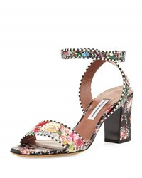 Tabitha Simmons Leticia Floral Print City Sandal Multi Rose Multi Colored
