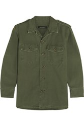 Kate Moss For Equipment Major Cotton Jacket Army Green