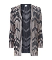 M Missoni Long Chevron Knit Cardigan Female Black