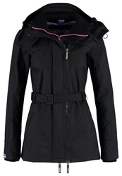 Superdry Technical Quilted Light Jacket Black Purple Metallic