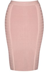 True Decadence Bandage Bodycon Midi Skirt Pink