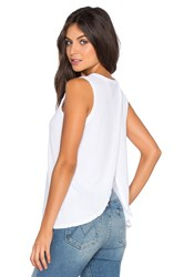 Current Elliott The Cross Back Muscle Tee White