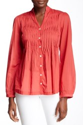 Chaudry Long Sleeve Tunic Red