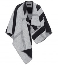 Burberry Wool And Cashmere Poncho Grey