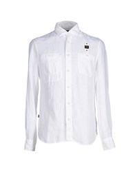 Blauer Shirts Shirts Men White