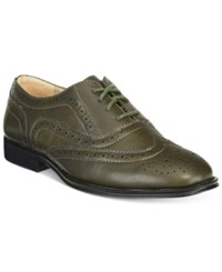 Wanted Babe Lace Up Oxfords Women's Shoes Olive
