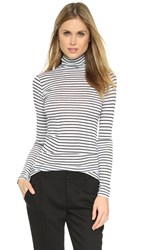 Club Monaco Julie Turtleneck Top Black White