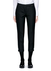 Thom Browne Grosgrain Ribbon Tuxedo Stripe Wool Pants Black