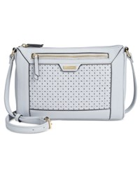 Tignanello Frame Perforated Leather Crossbody Light Lilac