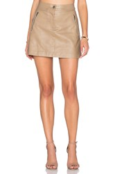 J.O.A. Side Zipper Mini Skirt Taupe