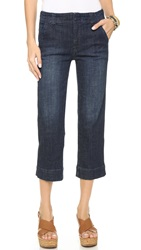 Free People High Rise Straight Crop Jeans Vincent Wash