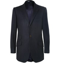 Cordings Blue Slim Fit Wool Blazer Blue