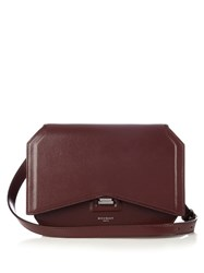 Givenchy Bow Cut Medium Leather Shoulder Bag Burgundy