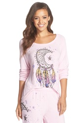 Lauren Moshi 'Brenna' Graphic Pullover Tickle Pink Moon Dreamcatcher