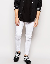 Waven Jeans Exclusive To Asos Erling Spray On Super Skinny Fit Clean White