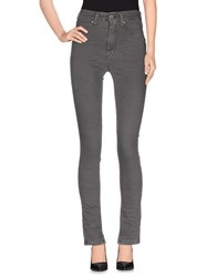 Please Denim Denim Trousers Women Grey