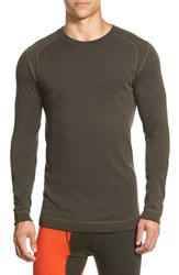 Men's Smartwool Long Sleeve Thermal T Shirt Olive Heather