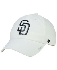 '47 Brand Women's San Diego Padres Adjustable Clean Up Cap White