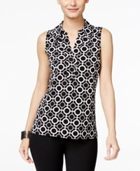 Inc International Concepts Printed Sleeveless Blouse Only At Macy's Circle Cross