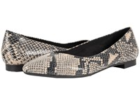 Vionic Gem Caballo Ballet Flat Natural Snake Women's Flat Shoes Beige