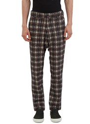 Aganovich Tartan Straight Leg Pants Black