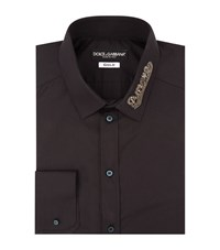 Dolce And Gabbana Beaded Collar Amore Shirt Male Black