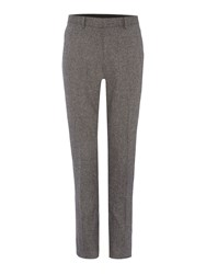 Linea Deale Textured Wool Trouser Light Grey