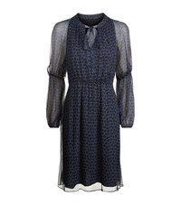 Elie Tahari Greta Cold Shoulder Dress Female Dark Blue