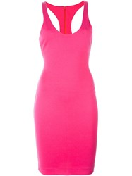 Dsquared2 Racerback Style Dress Pink And Purple