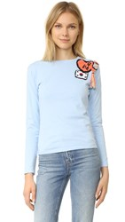 Michaela Buerger Seoul South Korea Long Sleeve T Shirt Light Blue