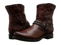 Frye Veronica Stud Moto Short Dark Brown Washed Antique Cowboy Boots